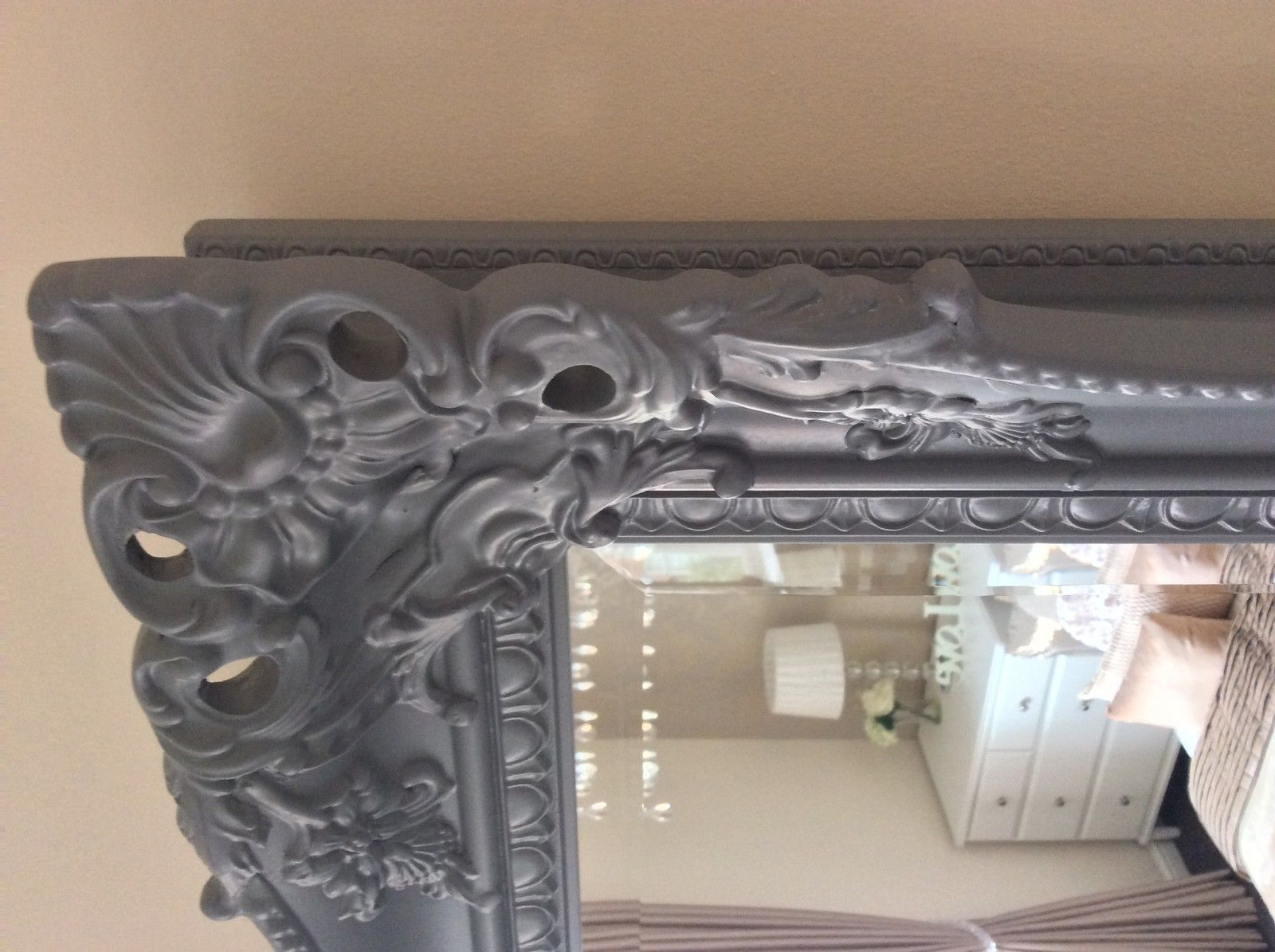 X Large Next Charlotte Decorative Grey Mirror Stunning